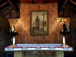 Altar Inside the Sanctuary at the Shrine to Saint Kateri Tekakwitha in Fonda, New York