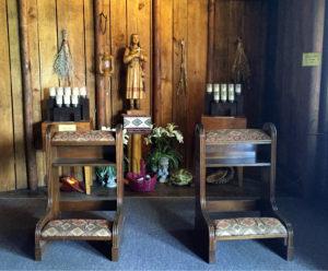 Inside the Sanctuary at the Shrine to Saint Kateri Tekakwitha in Fonda, New York