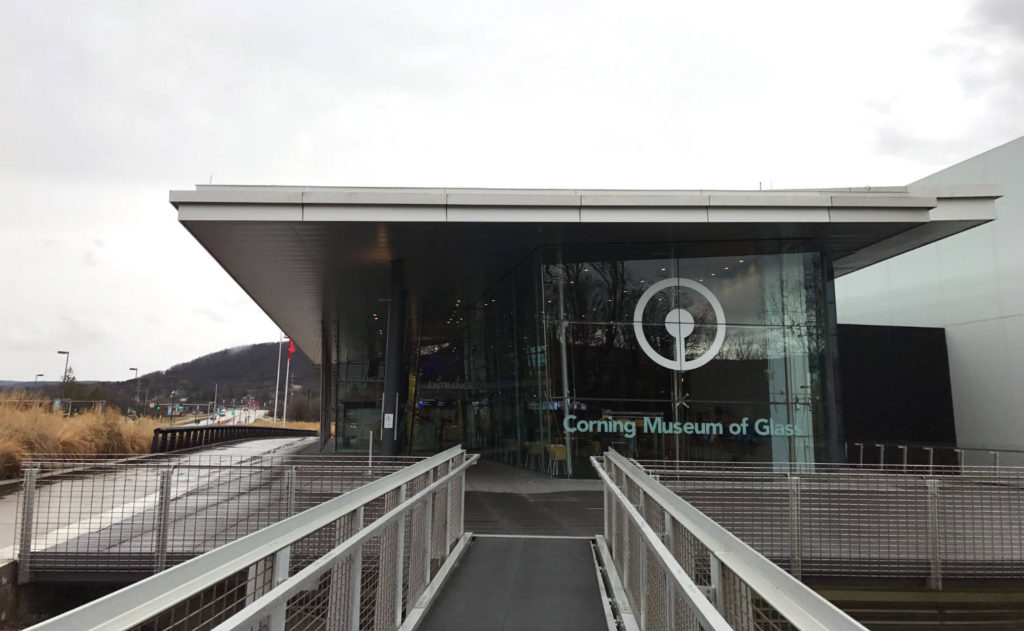 Corning Museum of Glass Entrance in Steuben County