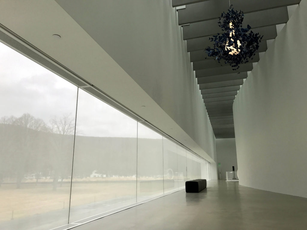 Hallway and Butterfly Chandelier at Corning Museum of Glass