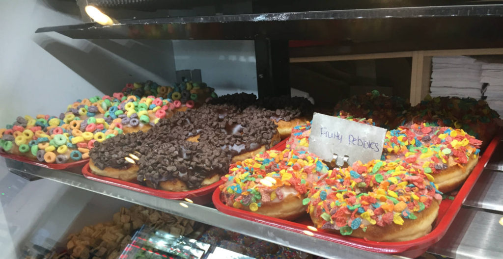 Breakfast Cereal Doughnuts at Daddy's Donuts in Middletown, New York