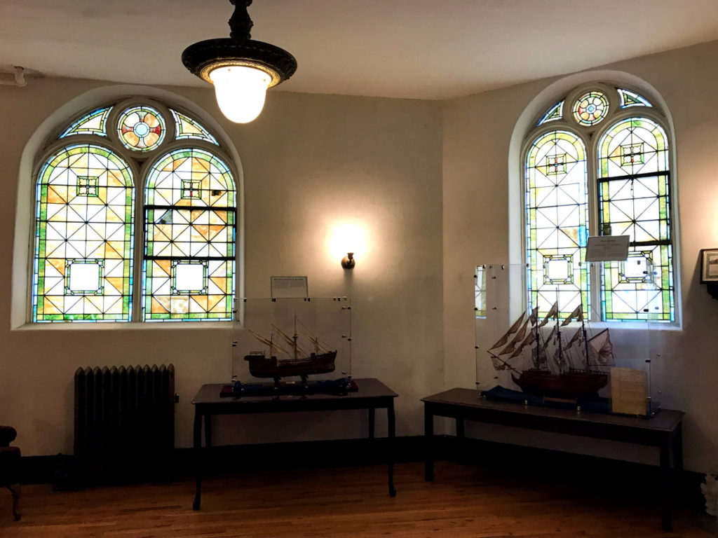 Stained Glass Windows in the Porter Hall Karpeles Manuscript Museum in Buffalo, New York