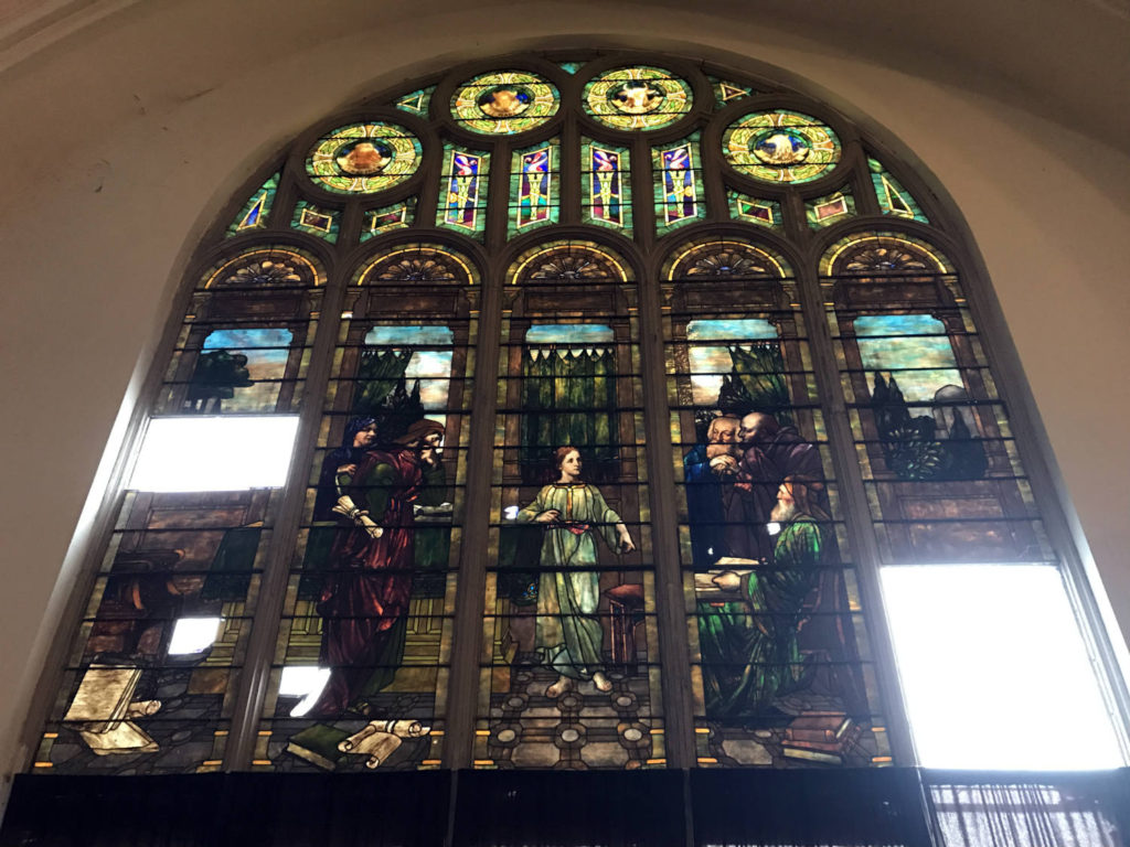 Louis Comfort Tiffany Stained Glass in the Karpeles Manuscript Museum in Buffalo, New York