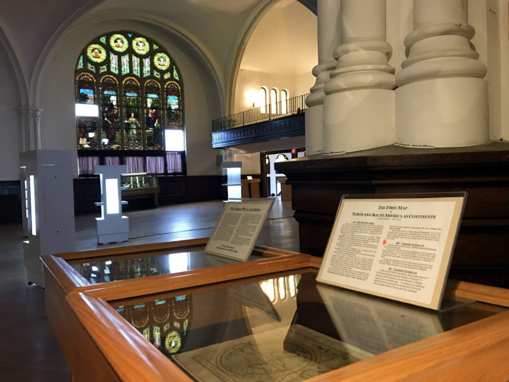 Exhibits Inside the Porter Hall Karpeles Manuscript Museum in Buffalo, New York