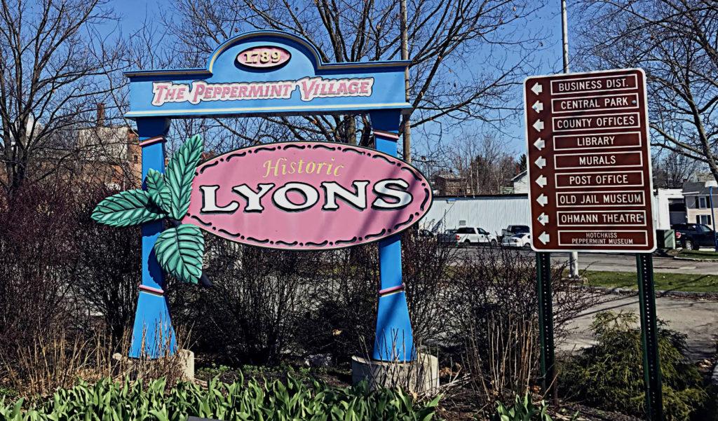Historic Lyons, New York Sign