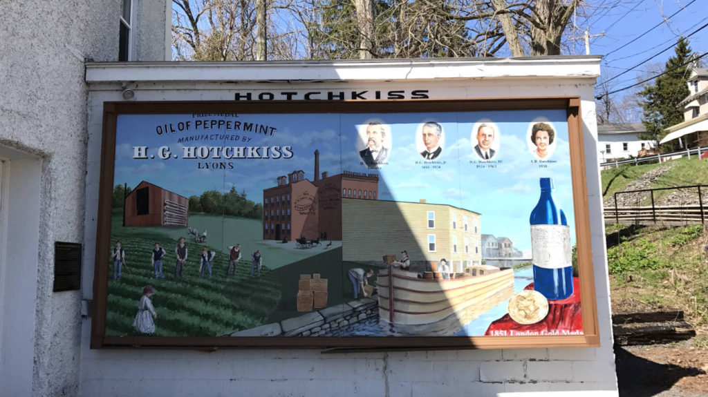 Mural at Hotchkiss Museum in Lyons, New York