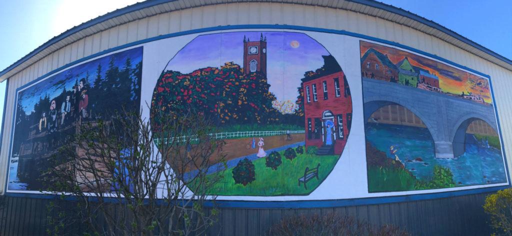 Mural at Santelli Lumber in Lyons, New York