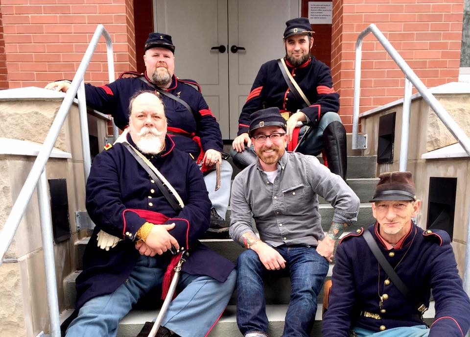 Chris Clemens and Union Civil War Reenactors in Waterloo, New York
