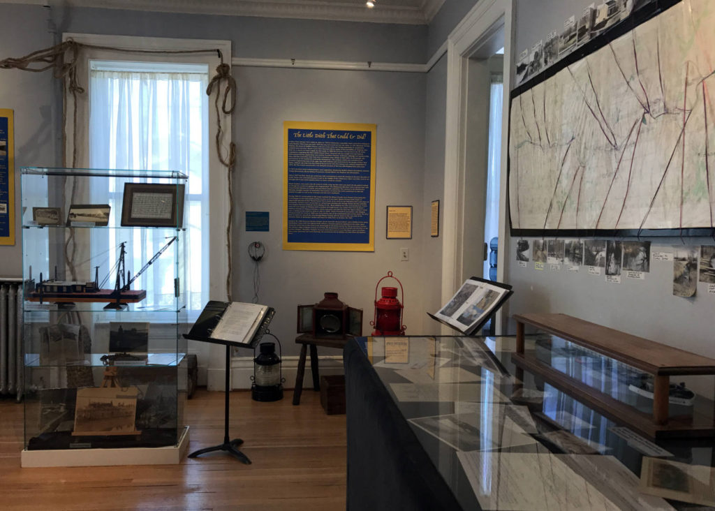 Erie Canal History Exhibit at the Wayne County Museum in Lyons, New York
