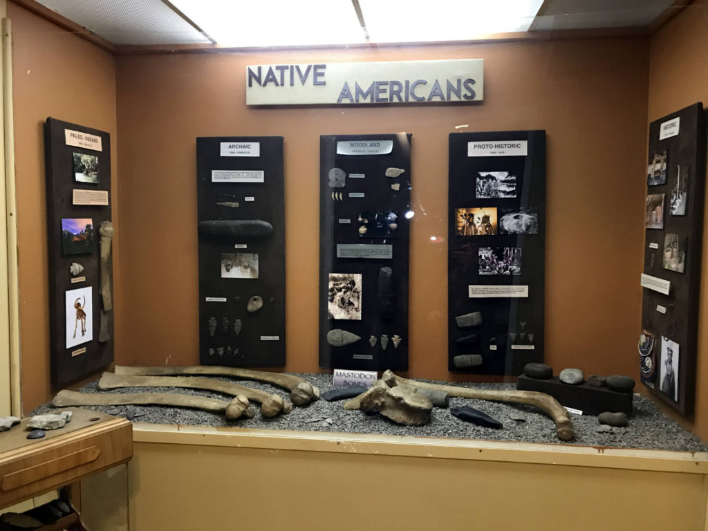 Native American Exhibit at the Wayne County Museum in Lyons, New York