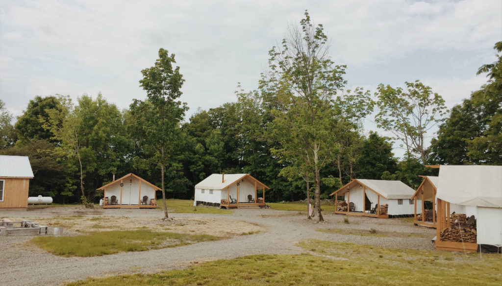 Glamping at the Gilbertsville Farmhouse in South New Berlin, New York