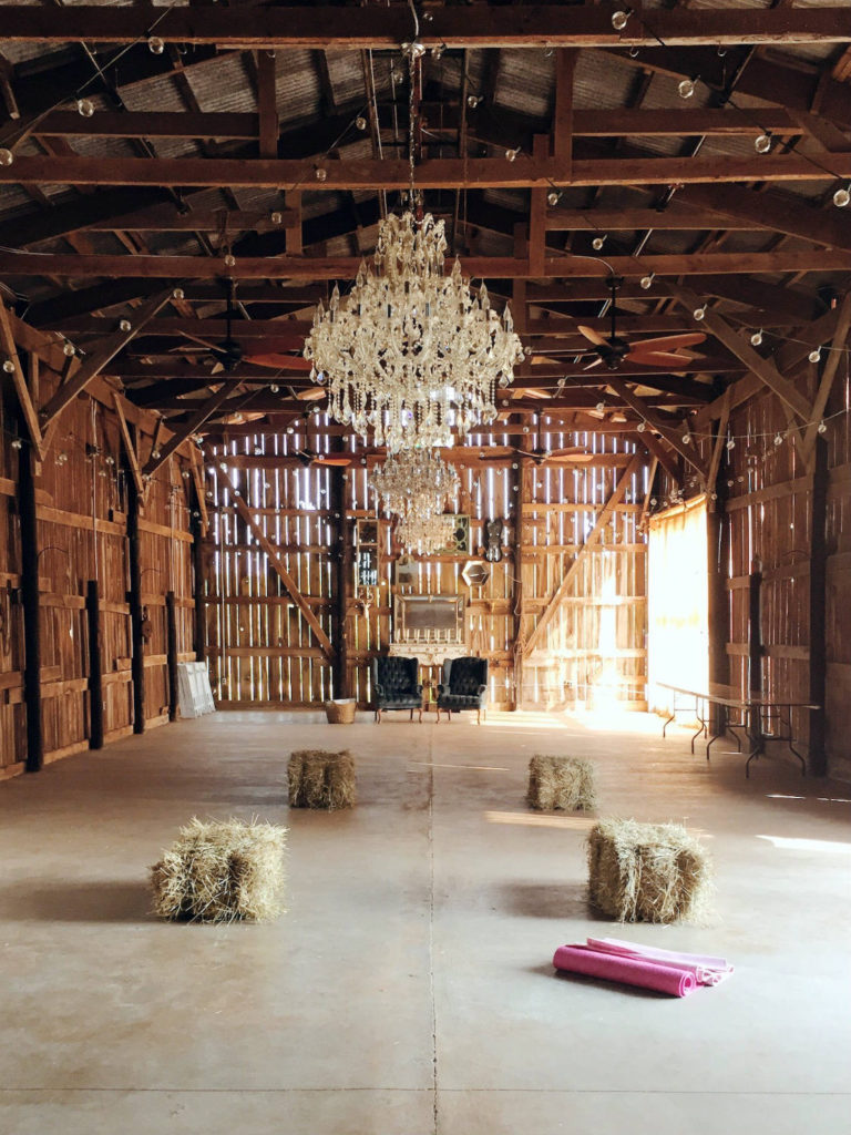 Barn Setting Yoga Studio at the Gilbertsville Farmhouse in South New Berlin, New York