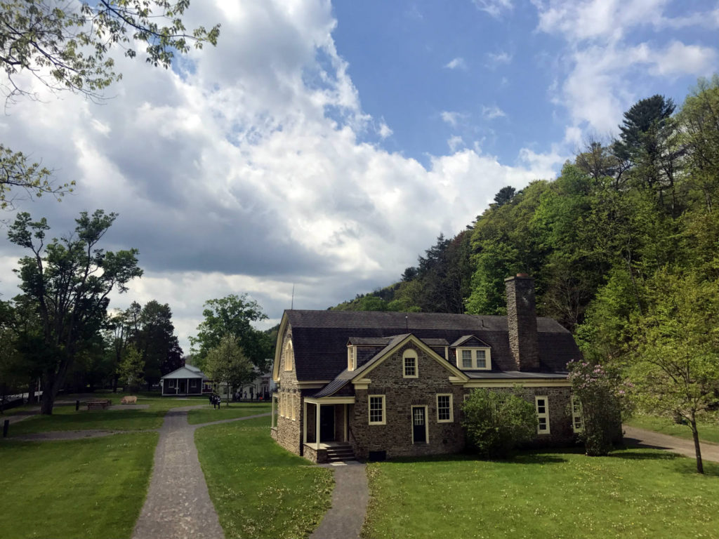 Grounds at the Farmer's Museum in Cooperstown, New York in Otsego County