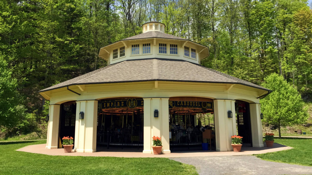The Empire State Carousel at the Farmer's Museum in Cooperstown, New York
