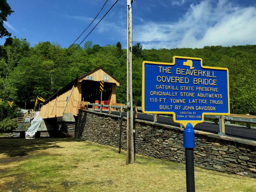 The Beaverkill Covered Bridge in Roscoe, New York in Sullivan County