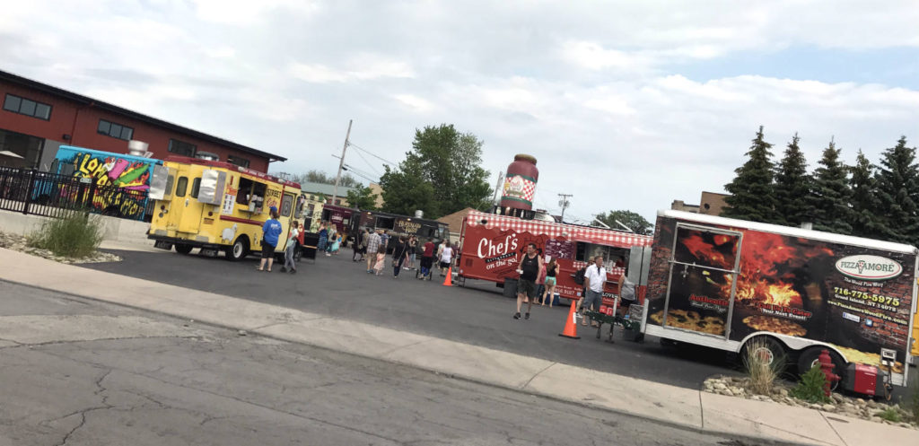 Flying Bison Brewery Food Truck Tuesdays in Buffalo, New York