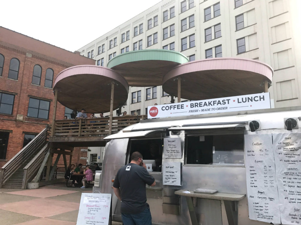 Public Espresso Truck at Larkin Square in Buffalo, New York