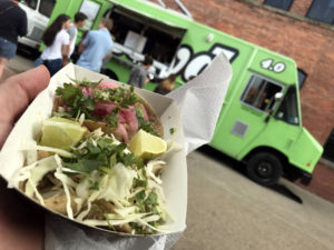 Lloyd's Taco Truck at Larkin Square in Buffalo, New York