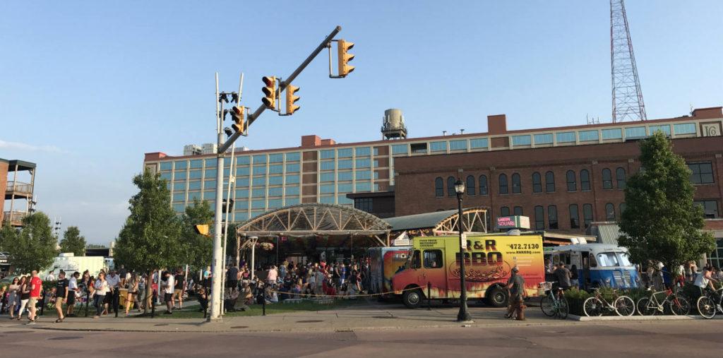 Food Truck Tuesdays at Larkin Square in Buffalo, New York