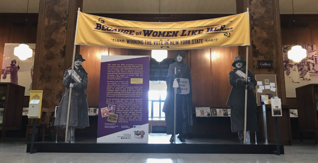 Because Of Women Like Her at the Rundel Library in Rochester, New York