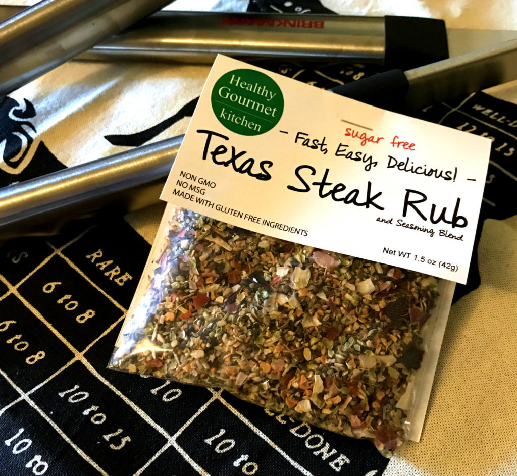 Healthy Gourmet Kitchen's Texas Steak Rub