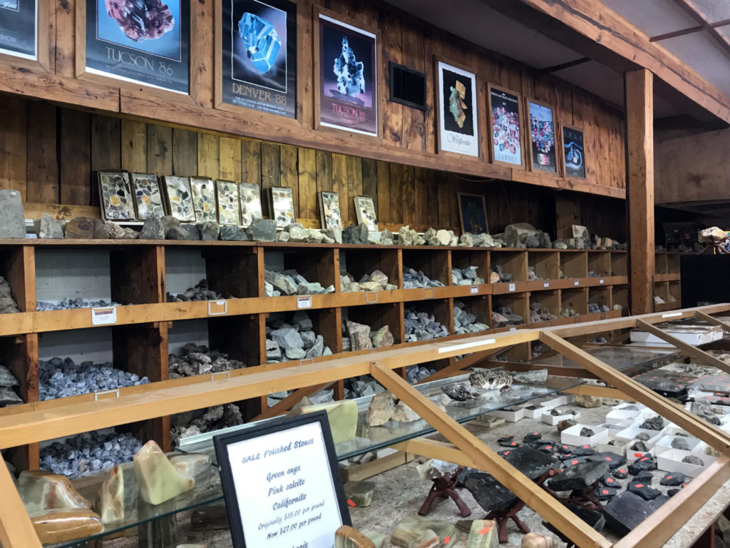 Gift Shop at the Herkimer Diamonds Mine in Herkimer, New York
