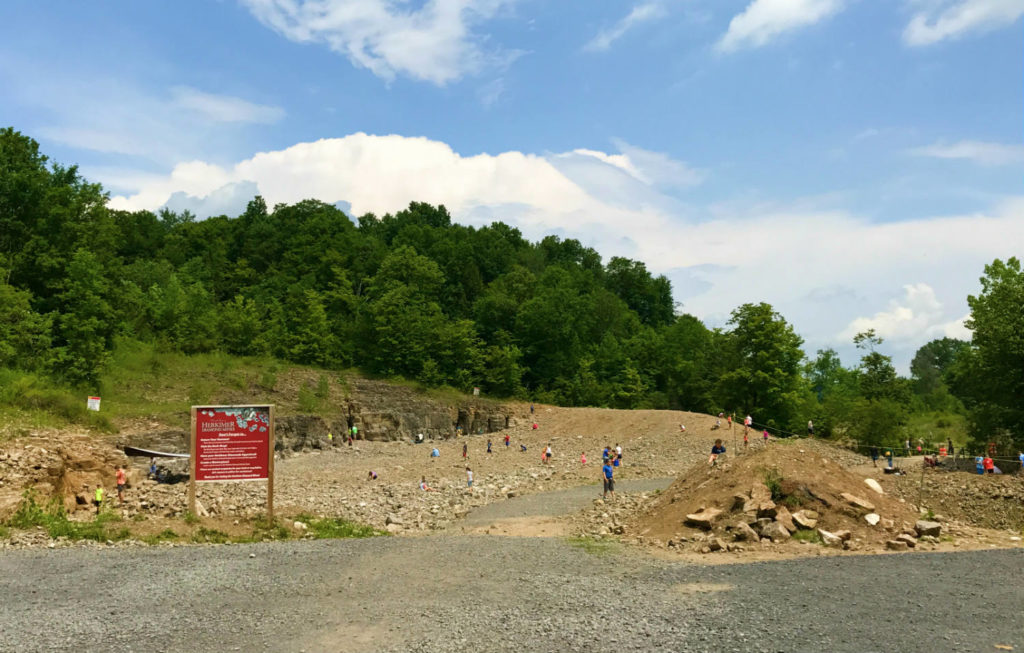 Pit 1 at the Herkimer Diamond Mines in Herkimer, New York