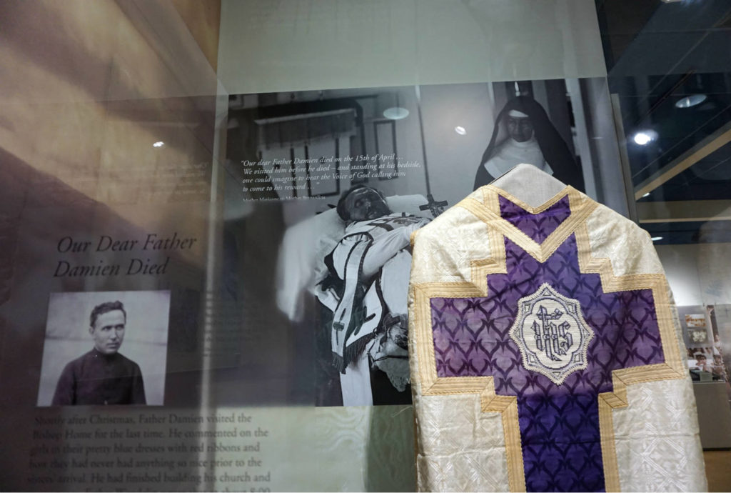Saint Marianne Cope Shrine and Museum Exhibit for Father Damien in Syracuse, New York