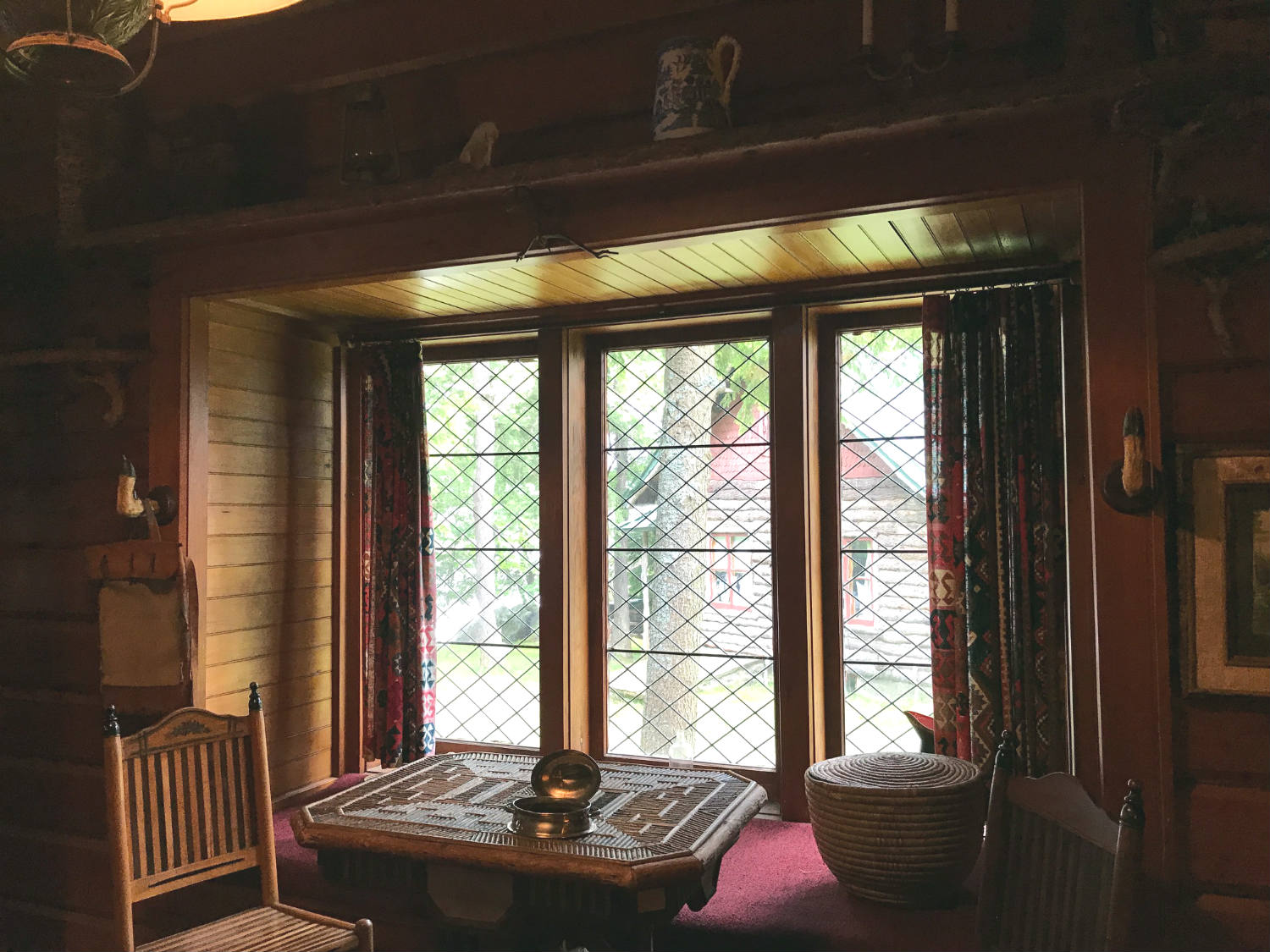 Window Seat in the Durant Cabin at Camp Pine Knot in the Adirondacks