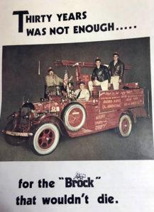 Brockway El Viejo Firetruck Advertisemen