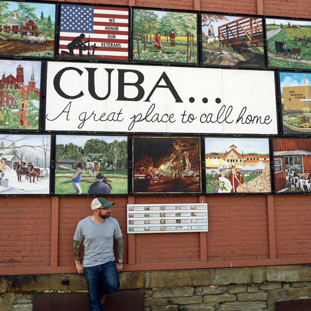 Chris Clemens and Cuba, New York Mural in Allegany County