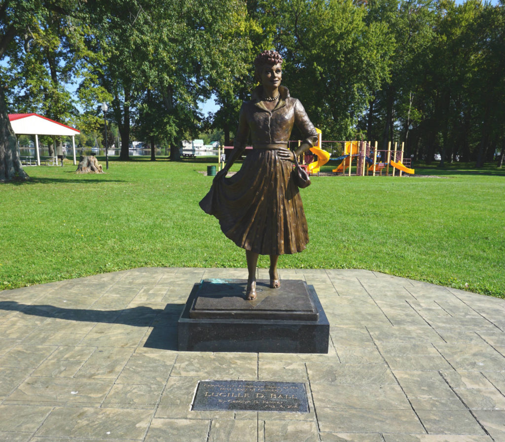 New Lucy Statue in Lucille Ball Memorial Park in Celeron, New York