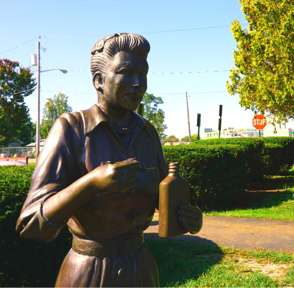 Scary Lucy Statue in Lucille Ball Memorial Park in Celeron, New York