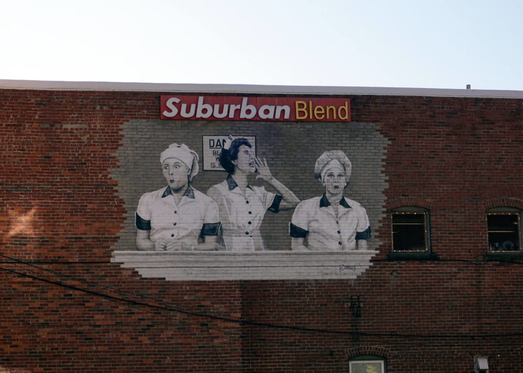 I Love Lucy Mural in Jamestown, New York