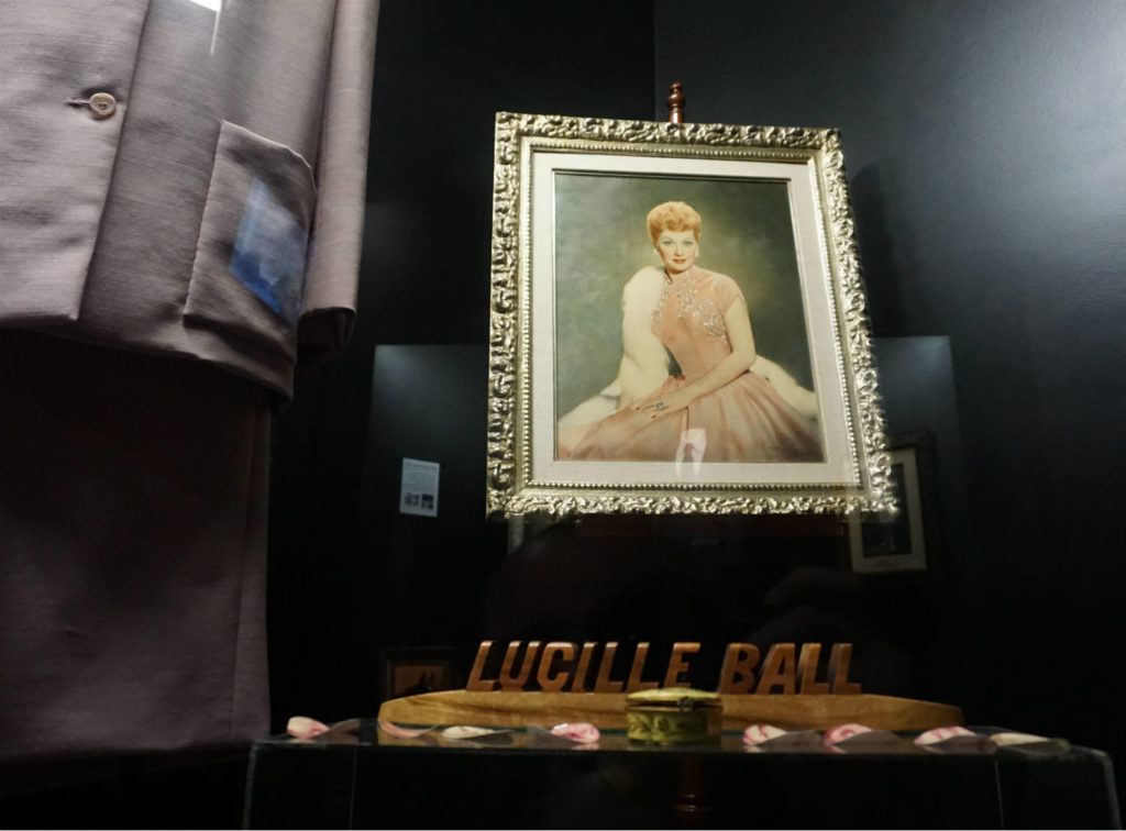 Portrait of Lucille Ball in the Lucy-Desi Museum in Jamestown, New York