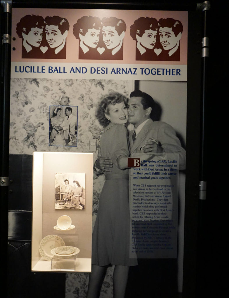 Signage in the Lucy-Desi Museum in Jamestown, New York