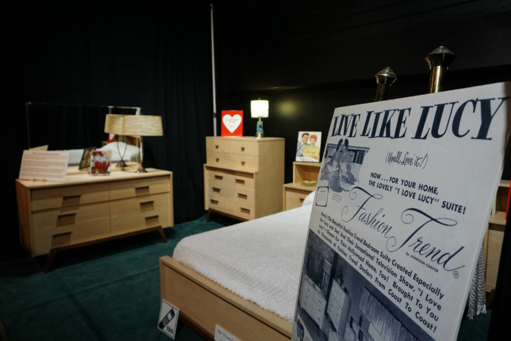 Lucille Ball's Bedroom Set at Desilou Studios in Jamestown, New York