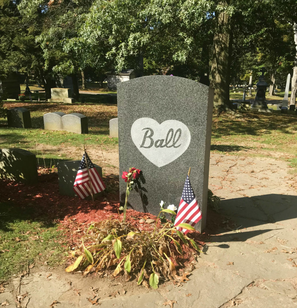 Lucille Ball's Gravesite in Lake View Cemetery in Jamestown, New York
