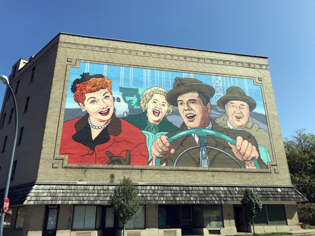 The Largest I Love Lucy Mural in the World in Jamestown, New York