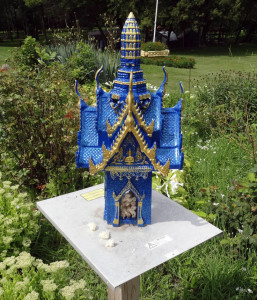 Spirit House at the Wat Pa Lao Buddhadham in Rush, New York