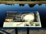 The Medina Culvert - Medina, NY - Sign on the Canal