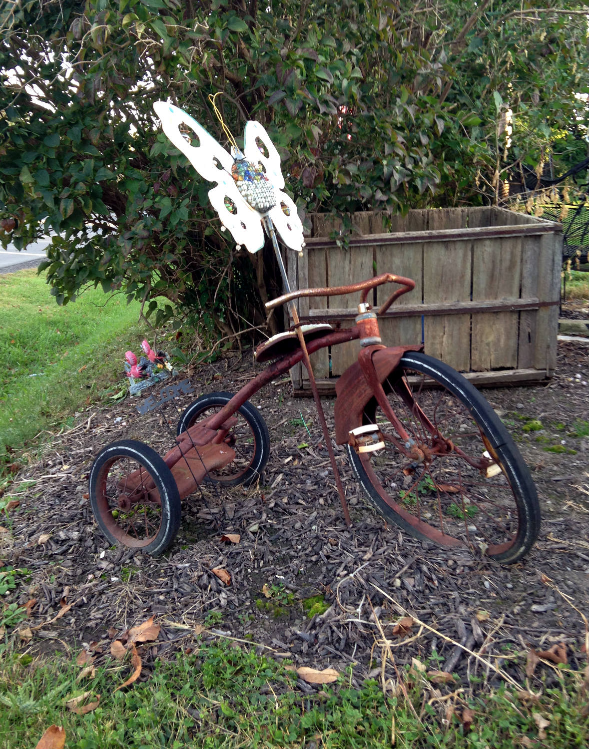 Bicycle Art and Yard Sculptures - Palmyra, NY Butterfly and Tricycle