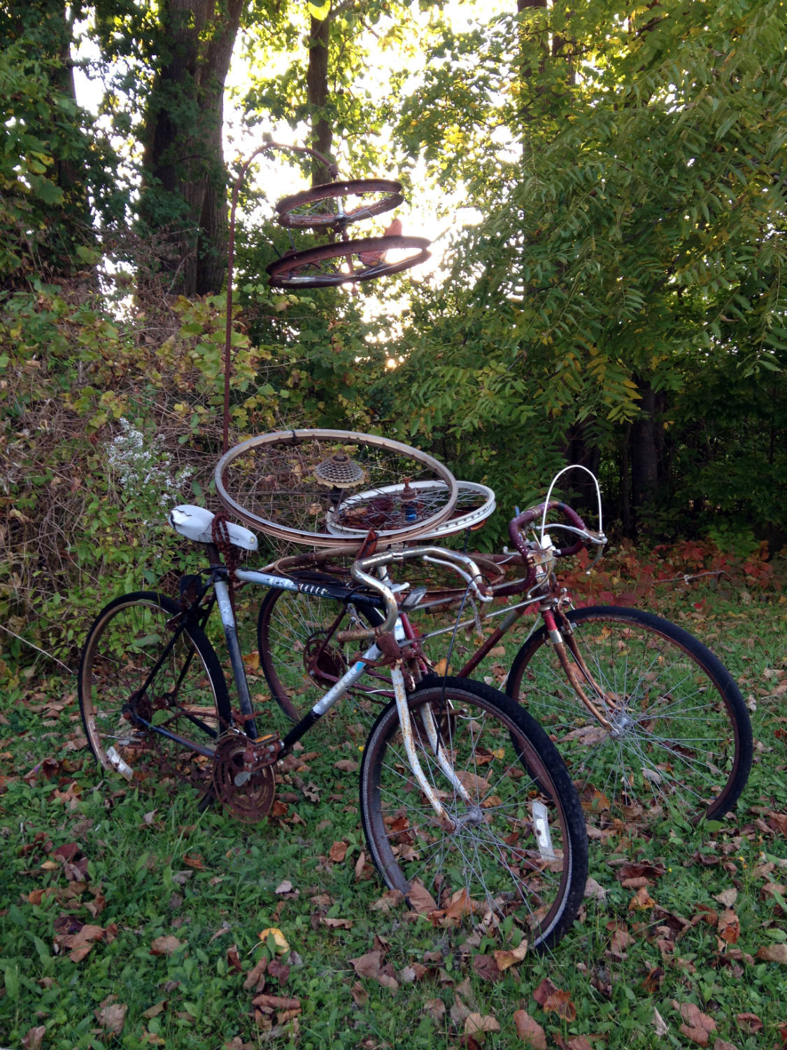 Bicycle Art and Yard Sculptures - Palmyra, NY Bikes