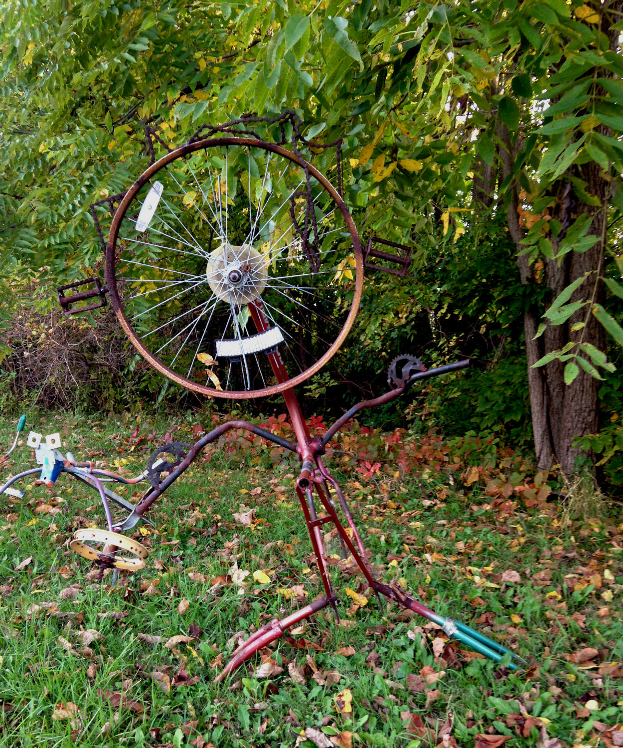 Bicycle Art and Yard Sculptures - Palmyra, NY Statue