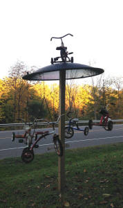 Bicycle Art and Yard Sculptures - Palmyra, NY Tricycle Carousel
