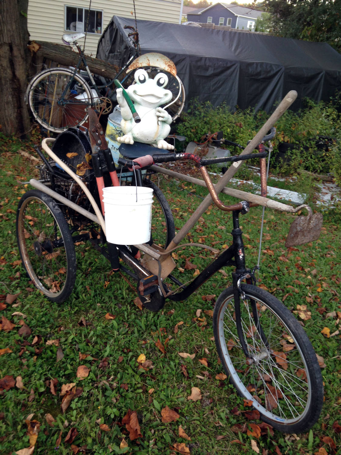 Bicycle Art and Yard Sculptures - Palmyra, NY Frog on Bike