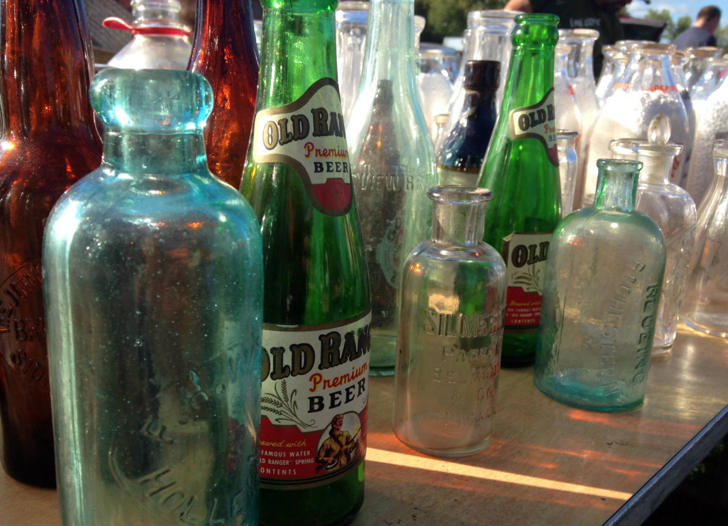 East Avon Flea Market - Bottles