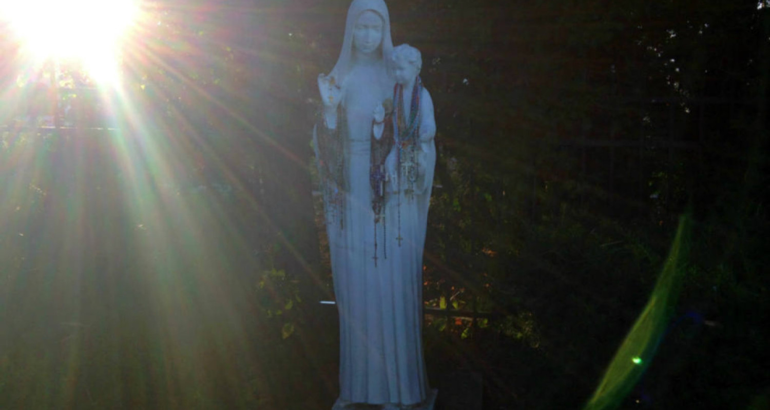 Our Lady of the Secret Sidewalk in Charlotte, NY - Featured Image