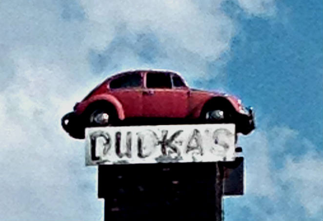 Volkswagen Bug on a Smokestack Dudka's Garage Amsterdam, NY