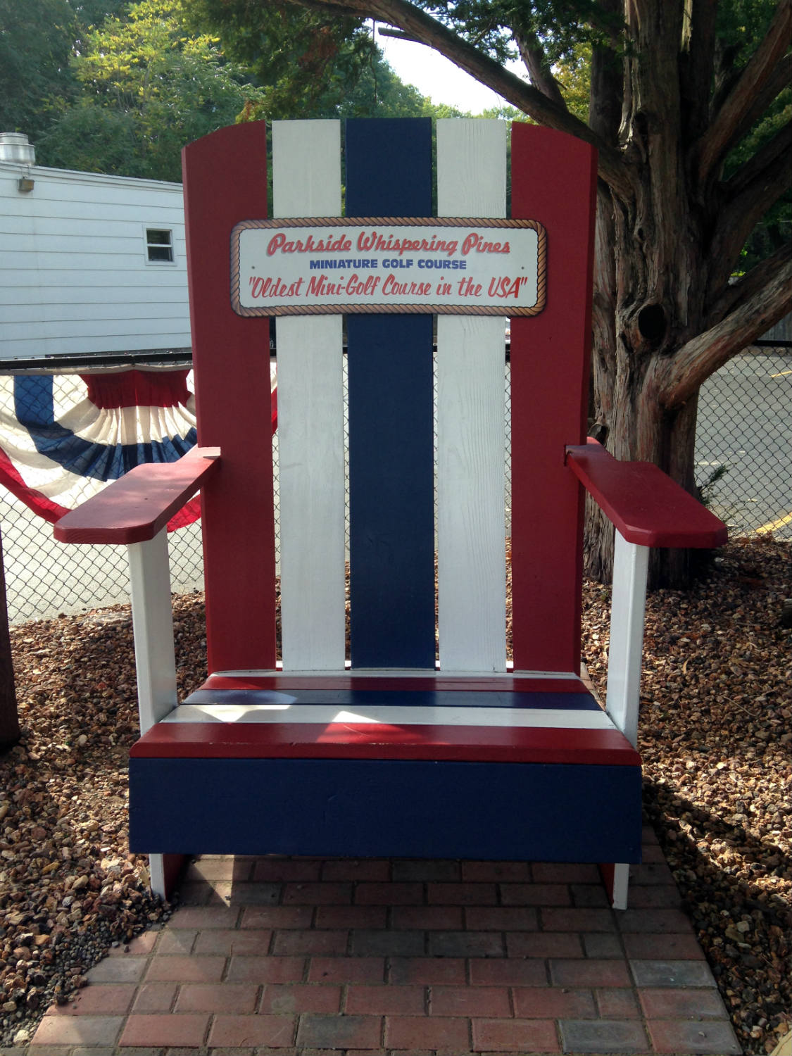 Wonderful Oversized Adirondack Chair At Whispering Pines Mini Golf; Rochester, NY